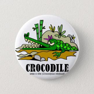 Crocodile by Lorenzo © 2018 Lorenzo Traverso 2 Inch Round Button
