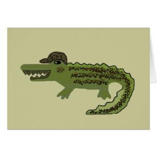 Crocodile Cool Card