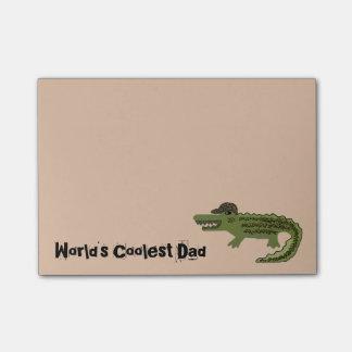 Crocodile Coolest Dad Post-it® Notes