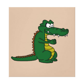 Crocodile design cards and paper products stretched canvas print