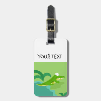 Crocodile from my world animals serie luggage tag