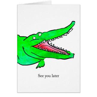 Crocodile Leaving Card