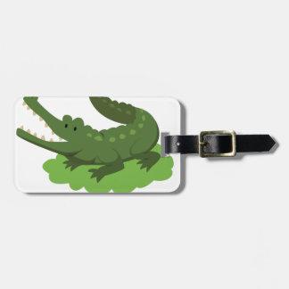 crocodile luggage tag