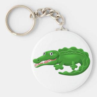 Crocodile or Alligator Animal Cartoon Character Keychain