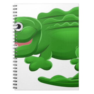 Crocodile or Alligator Animal Cartoon Character Spiral Notebook