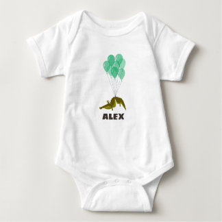 crocodile personalized baby bodysuit
