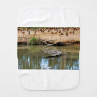 CROCODILE QUEENSLAND AUSTRALIA BURP CLOTH