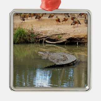 CROCODILE QUEENSLAND AUSTRALIA METAL ORNAMENT