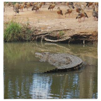 CROCODILE QUEENSLAND AUSTRALIA NAPKIN