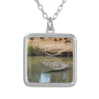 CROCODILE QUEENSLAND AUSTRALIA SILVER PLATED NECKLACE