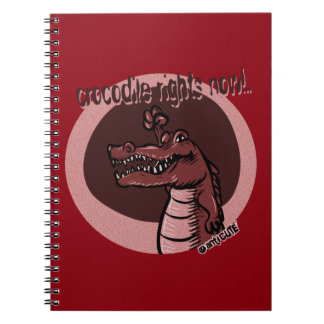 crocodile rights now red note books