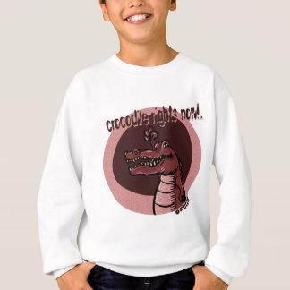 crocodile rights now red sweatshirt
