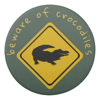 crocodile road sign - eraser