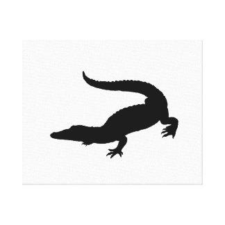 Crocodile Silhouette Canvas Print
