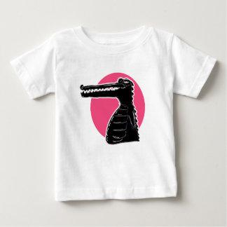 crocodile silhouette cartoon style illustration baby T-Shirt