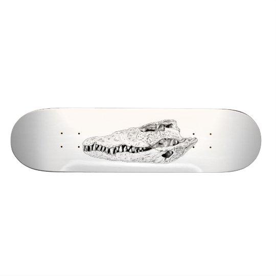 Crocodile skull deck custom skate board