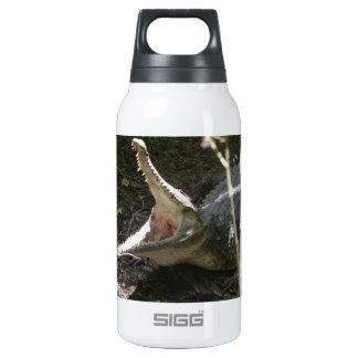 crocodile with open mouth insulated water bottle