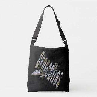 Crocodiles And Logo Full Print Crossbody Bag. Crossbody Bag