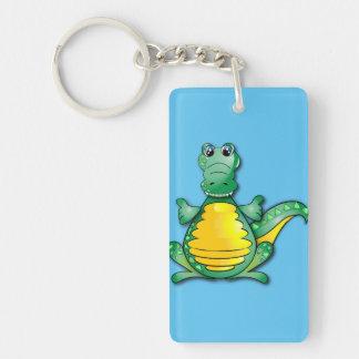 Crocodile's hug Double-Sided rectangular acrylic keychain