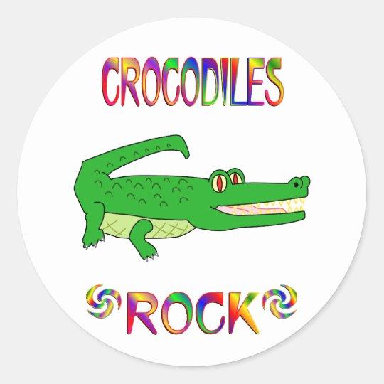 CROCODILES ROCK CLASSIC ROUND STICKER