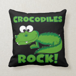 Crocodiles Rock Throw Pillow