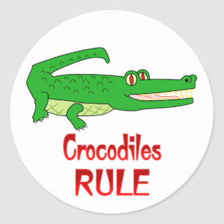 Crocodiles Rule Classic Round Sticker