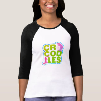 Crocodiles with two happy crocs - green letters T-Shirt