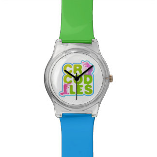 Crocodiles with two happy crocs - green letters watch
