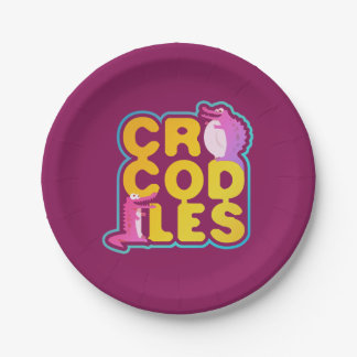 Crocodiles with two happy crocs paper plate