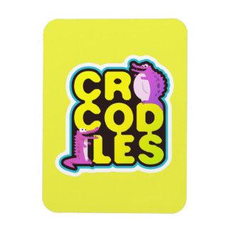 Crocodiles with two happy crocs - vivid magnet