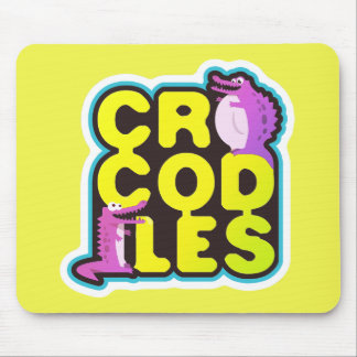 Crocodiles with two happy crocs - vivid mouse pad
