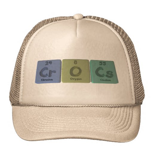 Crocs-Cr-O-Cs-Chromium-Oxygen-Caesium.png Mesh Hat