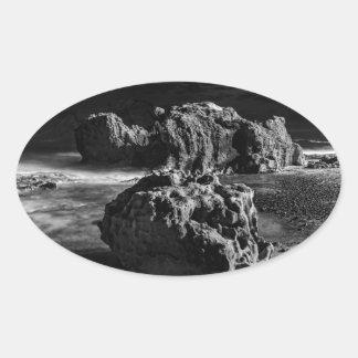 Croc's Head Rock Oval Sticker