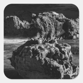 Croc's Head Rock Square Sticker