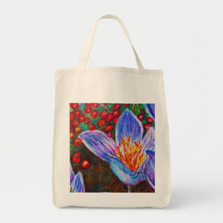 Crocus and Berries Tote Bag