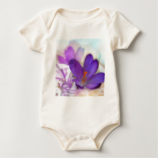 Crocus and Lily of the Valley Floral Arrangement . Baby Bodysuit