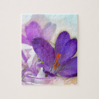 Crocus and Lily of the Valley Floral Arrangement . Jigsaw Puzzle
