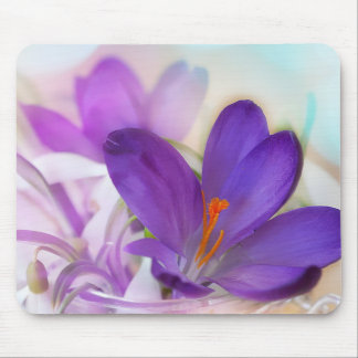 Crocus and Lily of the Valley Floral Arrangement . Mouse Pad