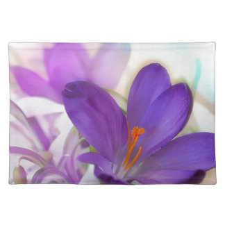 Crocus and Lily of the Valley Floral Arrangement . Placemat