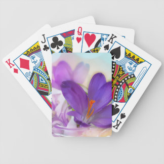 Crocus and Lily of the Valley Floral Arrangement . Poker Deck