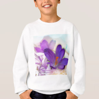 Crocus and Lily of the Valley Floral Arrangement . Sweatshirt