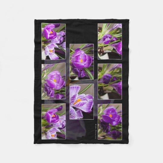 Crocus Collage Fleece Blanket