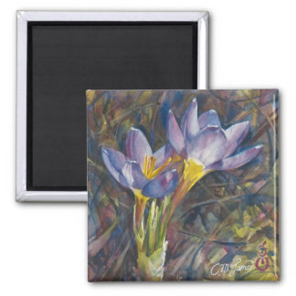 """Crocus Couple"" Magnet"