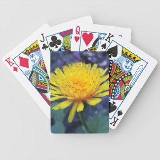 crocus flower photo in light playing cards