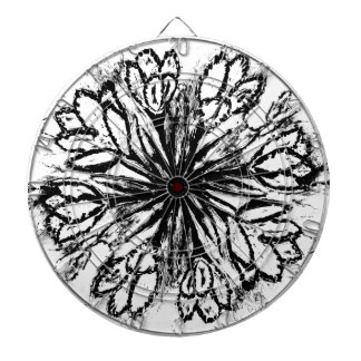 Crocus Flowers Painting Abstract Dartboard