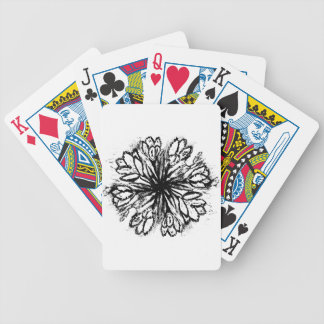 Crocus Flowers Painting Abstract Poker Deck