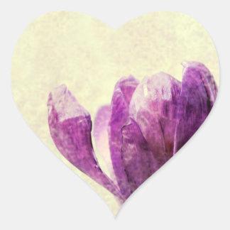 Crocus Heart Sticker