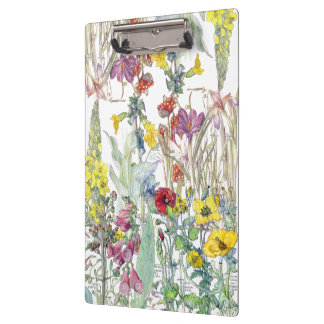 Crocus Iris Poppy Foxglove Flowers Clipboard