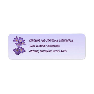 Crocus Return Address Label