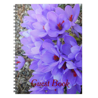 Crocus Wedding or Party Guestbook Note Books